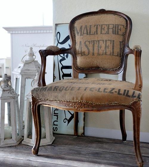 Tapizar butacas con tela de saco recicla tus muebles - Muebles antiguos de comedor ...