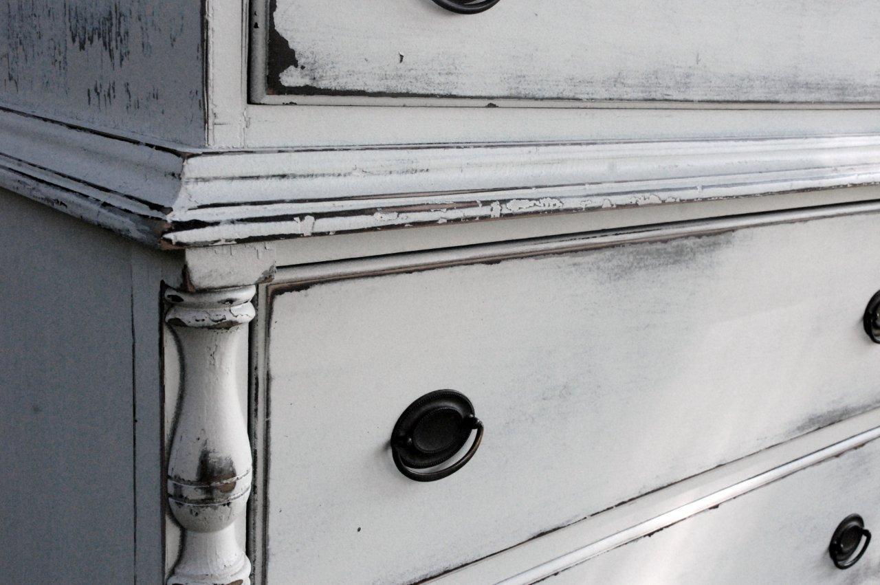 Muebles decapados en blanco recicla tus muebles - Banco blanco ...