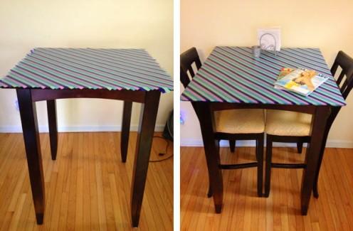 reciclar-una-mesa-con-cinta-washi