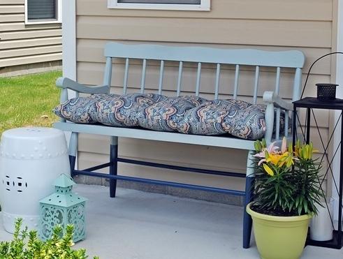 Pintar un banco de madera recicla tus muebles - Pinturas para pintar madera ...