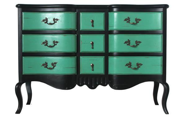 Ideas para reciclar muebles recicla tus muebles - Muebles de colores pintados ...