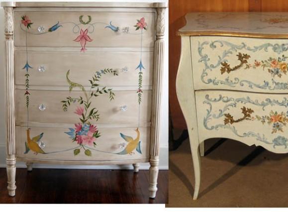 Ideas para reciclar muebles recicla tus muebles - Muebles pintados a mano fotos ...
