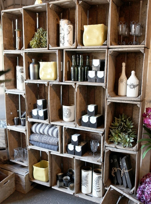Estantes con cajas de vino recicla tus muebles - Estantes para vinos ...