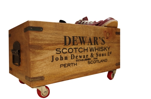 Wooden Storage Crate On Wheels - Small