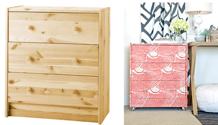 Muebles forrados de tela recicla tus muebles for Papel para forrar muebles