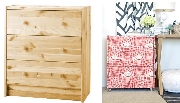 Muebles forrados de tela recicla tus muebles - Papel para forrar muebles de cocina ...