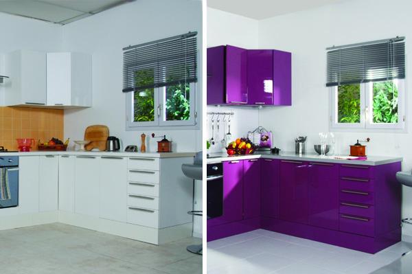 Lacar muebles con alto brillo recicla tus muebles - Pintar muebles de cocina antes y despues ...
