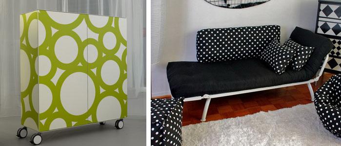 reciclar muebles con lunares