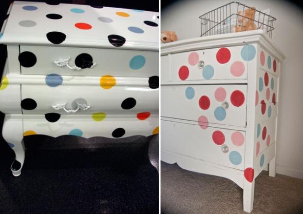 reciclar-muebles-con-lunares