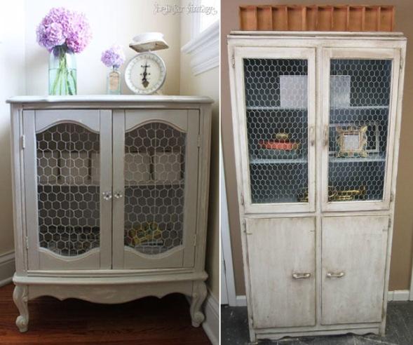 Muebles con tela de gallinero recicla tus muebles - Tela de muebles ...