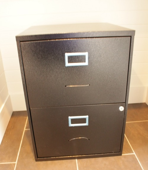 Chalk-Painted-Stenciled-Filing-Cabinet-Before-by-The-Happy-Housie