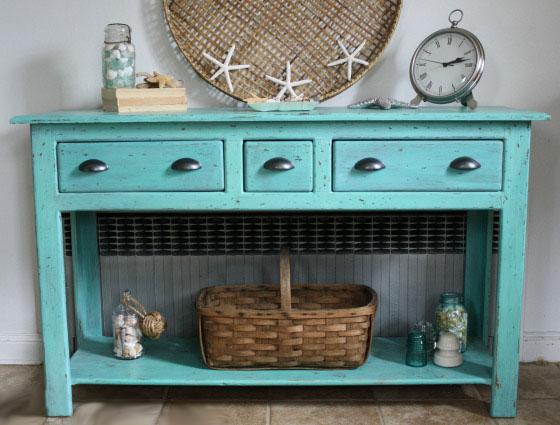 Renovar un aparador con pintura recicla tus muebles - Con que pintar muebles de pino ...