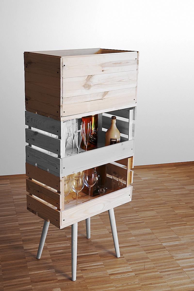 Decorar con cajas de madera recicladas recicla tus muebles for Ideas con cajas de madera