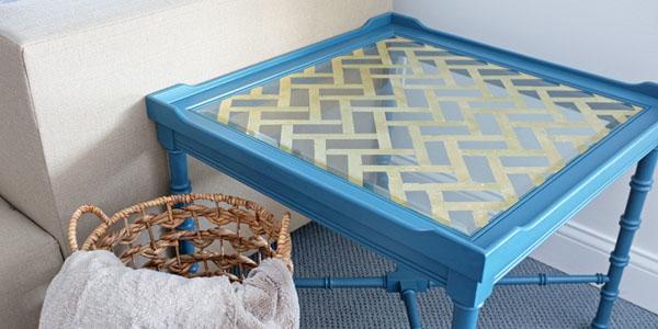 Mesa de cristal y pan de oro recicla tus muebles for Muebles baratisimos
