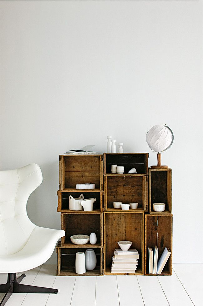 Decorar con cajas de madera recicladas recicla tus muebles - Cajas de decoracion ...