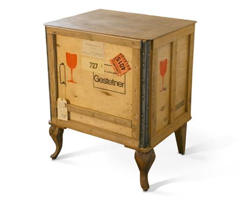 Decorar con cajas de madera recicladas recicla tus muebles - Muebles vintage reciclados ...
