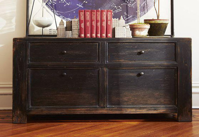 Distressed black negro envejecido recicla tus muebles for Papel imitacion madera para muebles