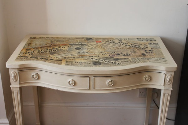 Renovar muebles decoupage recicla tus muebles - Como forrar muebles con tela ...