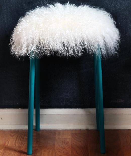 Ikea Fur Stool