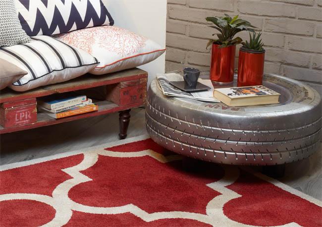Muebles de sal n reciclados recicla tus muebles for Mesas con neumaticos