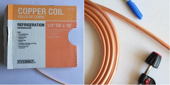 3 tubo de cobre