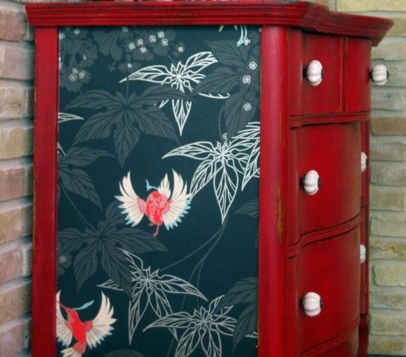 Papel pintado para renovar muebles recicla tus muebles for Papel pintado plastificado