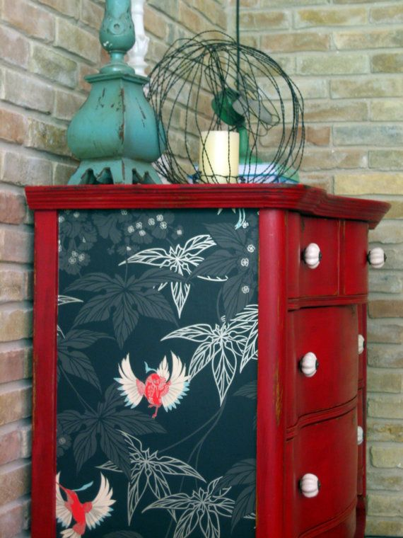 Papel pintado para renovar muebles recicla tus muebles - Papel decorativo para muebles ...