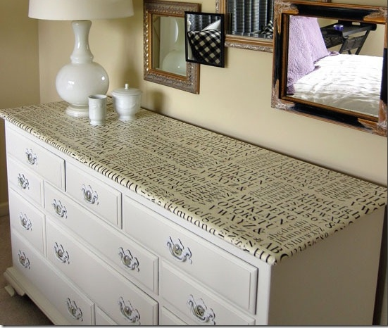 Papel pintado para renovar muebles recicla tus muebles - Muebles de papel ...