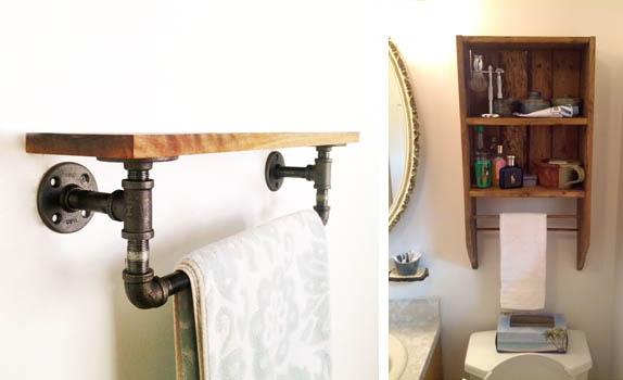 como hacer un toallero para el bao amazing toalleros