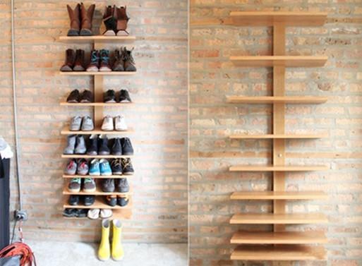 Ideas de almacenaje creativo recicla tus muebles for Zapateros colgados pared