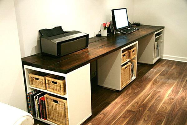 large-DIY-desk-with-storage-shelves