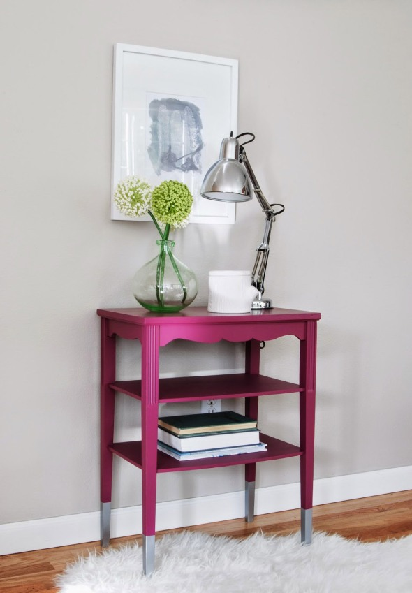 Magenta+Table+with+Silver+dipped+legs+WD-b-5