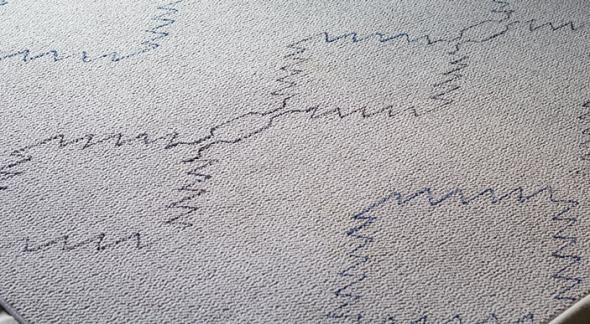 diseño transferido alfombra