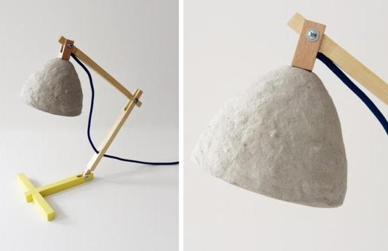 Lámparas con material reciclado