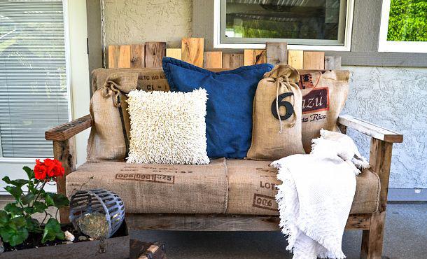 Sof s de jard n hechos con palets recicla tus muebles - Muebles de jardin hechos con palets ...