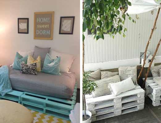 Recicla tus muebles de viejo a vintage for Muebles terraza palets